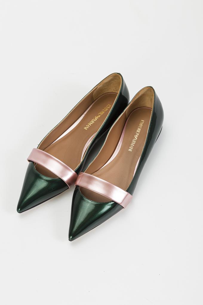 Emporio Armani Ballerina Metal Kadın Babet Ayakkabı