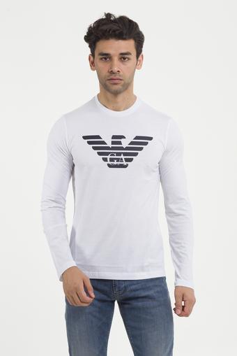 Emporio Armani %100 Pamuklu Erkek Bisiklet Yaka T-Shirt