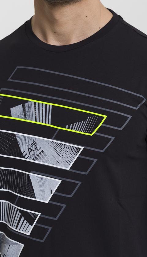 EA7 Maxi Logo Baskılı Erkek T-Shirt