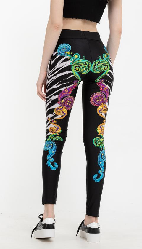 Versace Jeans Couture Lycra St. Tiger Baroque Desenli Kadın  Tayt