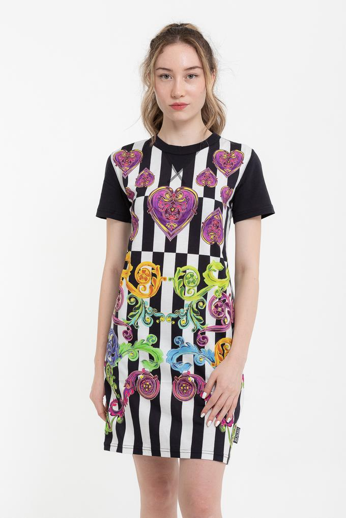 Versace Jeans Couture %100 Pamuklu Kısa Kollu Elbise
