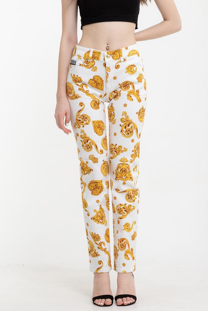 Versace Jeans Couture  Bull Print Gioielli Desenli Skinny Kadın  Pantolon