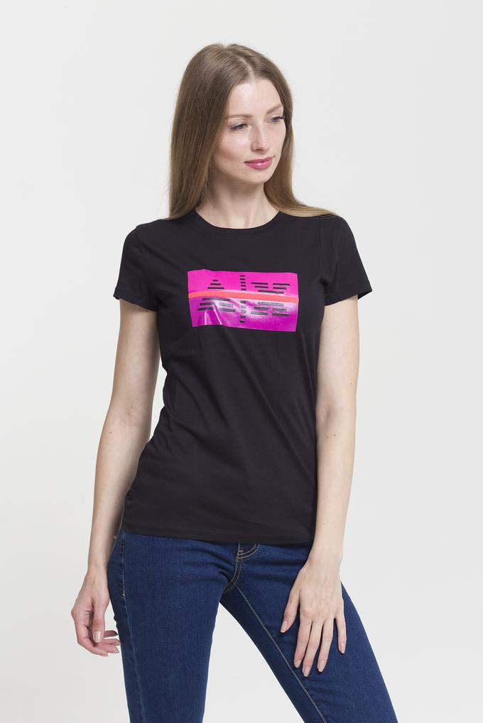 Armani Exchange Slim Fit Kadın Bisiklet Yaka T-Shirt