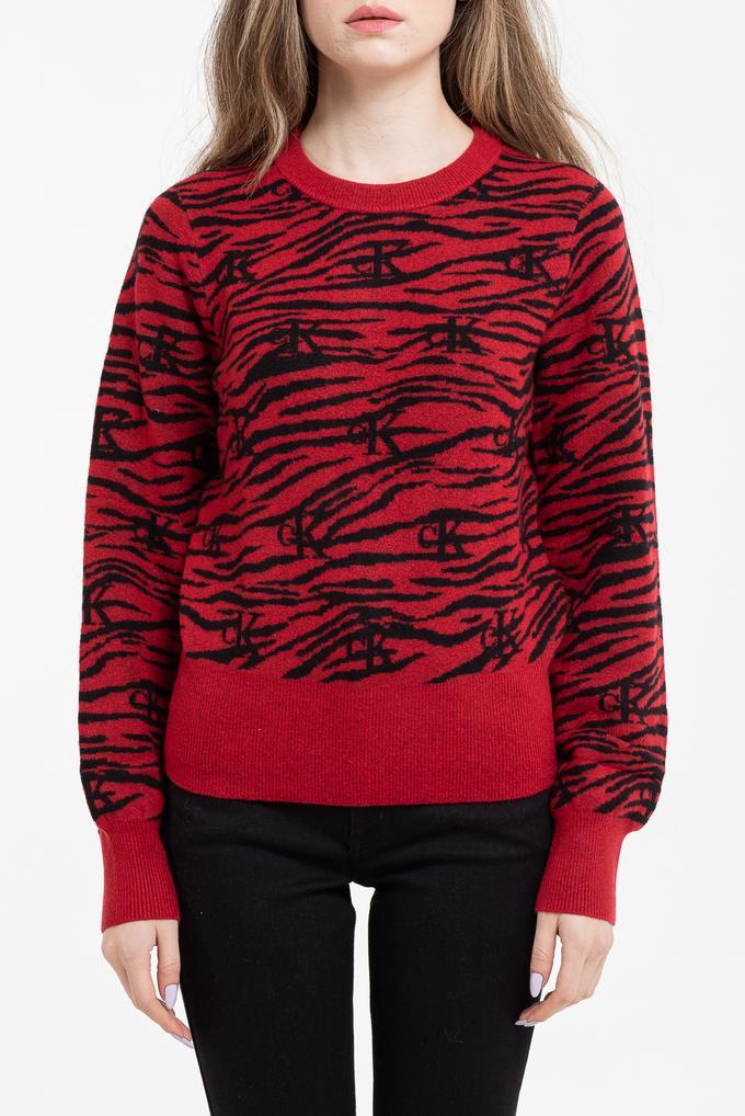 Calvin Klein Kadın Zebra Sweatshirt