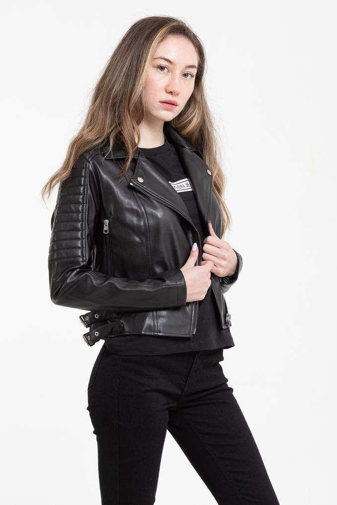 Calvin Klein Kadın Biker Deri Ceket