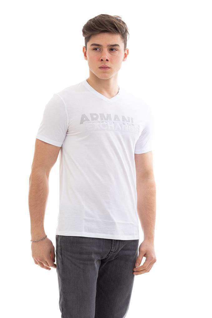 Armani Exchange Slim Fit Erkek V-Yaka T-Shirt