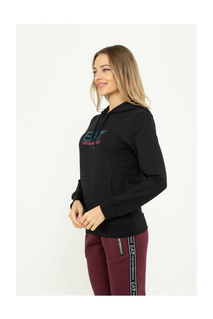 EA7 Kadın Kapüşonlu Sweatshirt