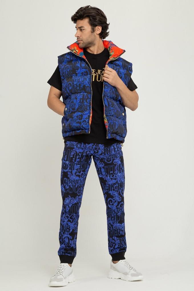 Versace Jeans Desenli Erkek Mont