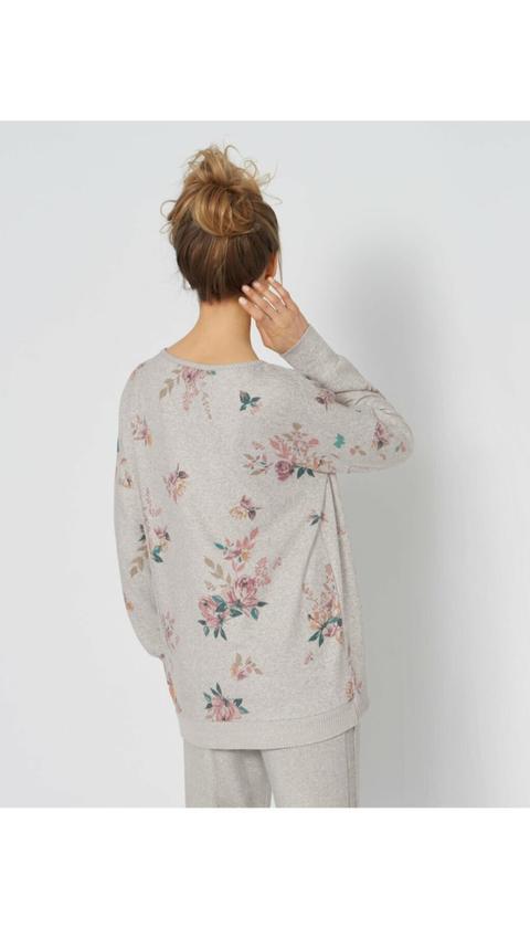 Triumph Kadın Thermal Sweater Print Pijama Üstü