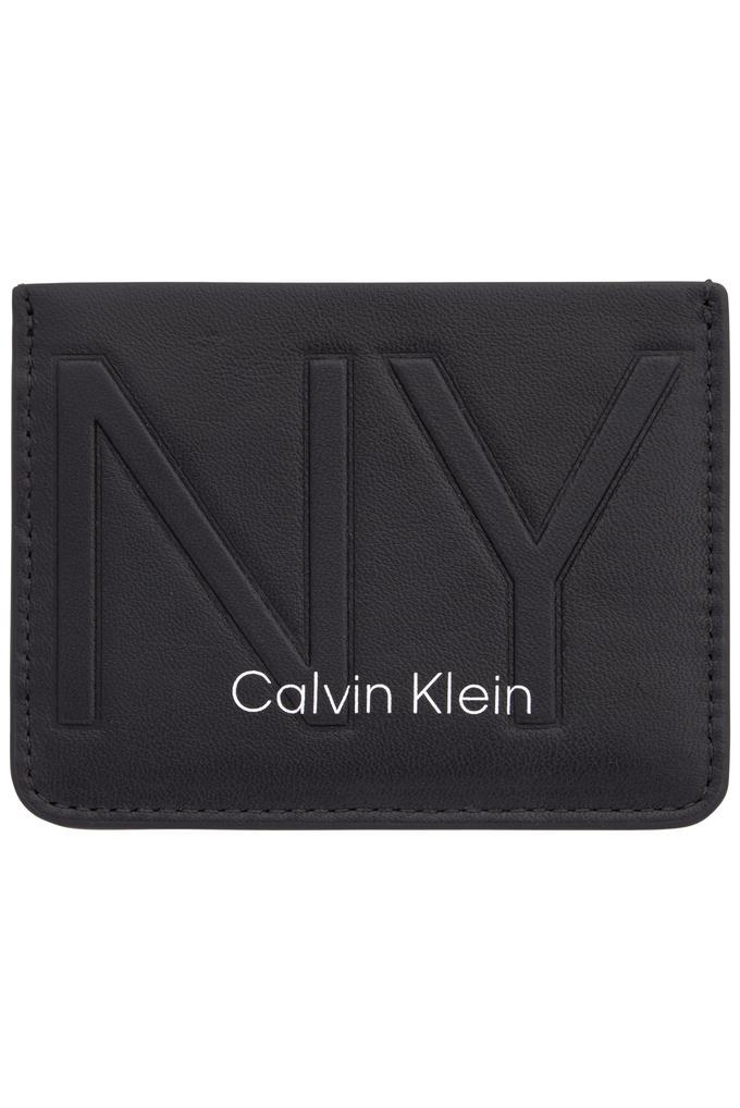 Calvin Klein Siyah %100 Deri CK NY Logolu Kartlık