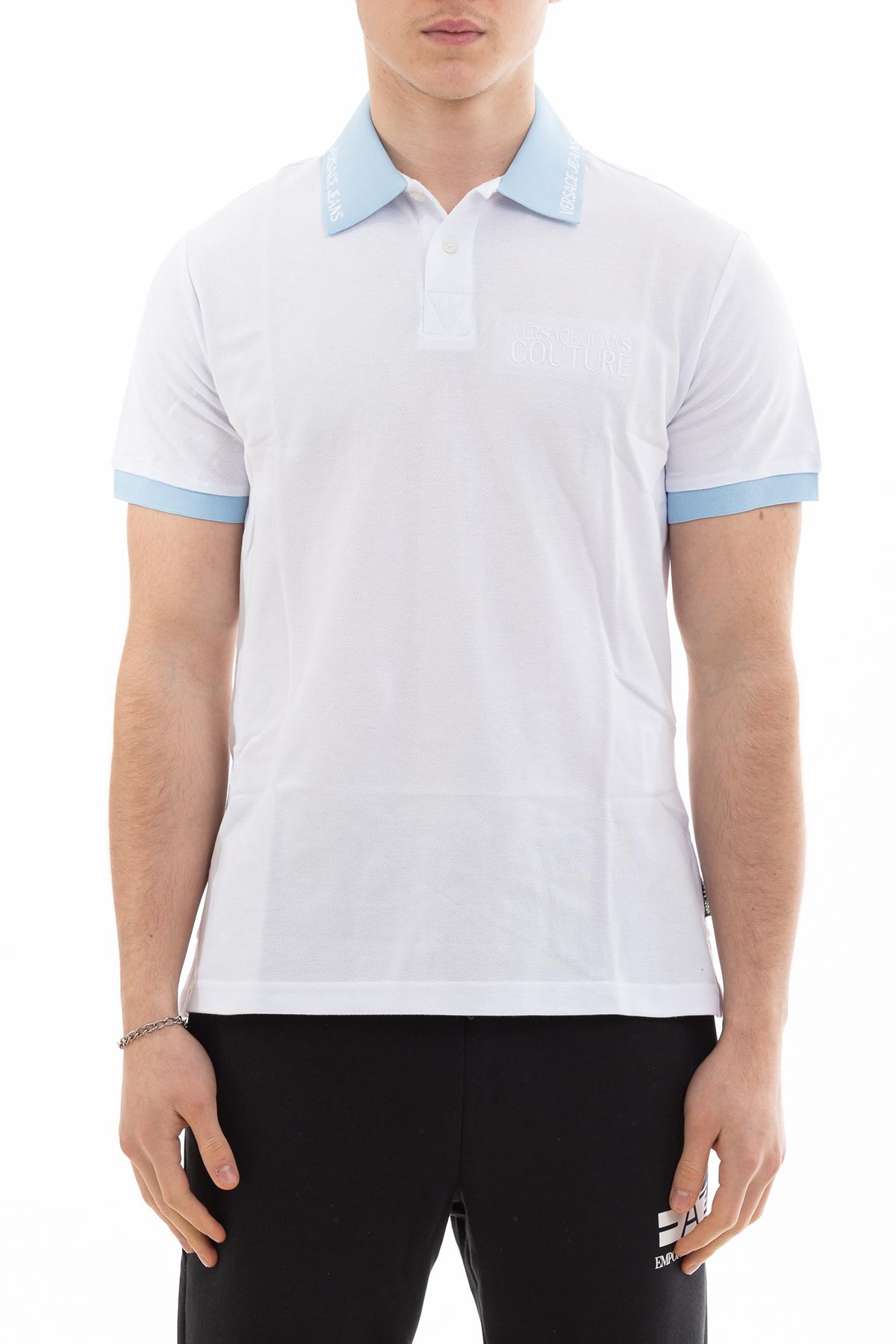 Versace Jeans Couture Erkek Regular Fit Embro Logo Polo Yaka T-Shirt