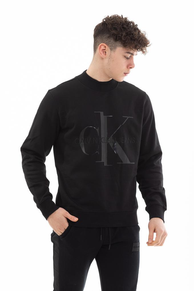 Calvin Klein  Pamuklu Monogram Parlak Logo Erkek Sweatshirt