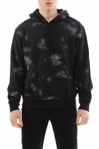 Calvin Klein Cloud Print Erkek Kapüşonlu Sweatshirt