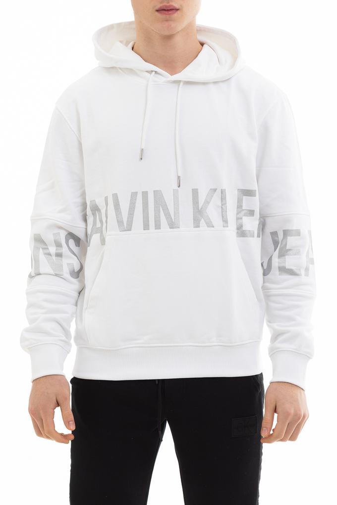 Calvin Klein Blocking Logo Erkek Kapüşonlu Sweatshirt