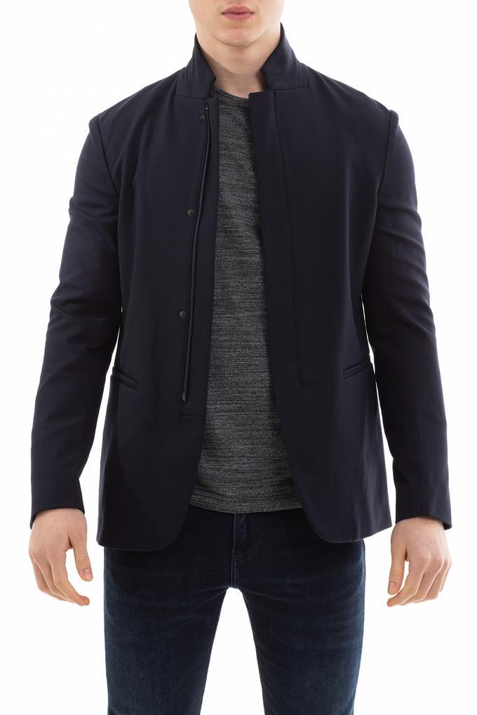 Emporio Armani Dik Yaka Erkek Blazer Ceket