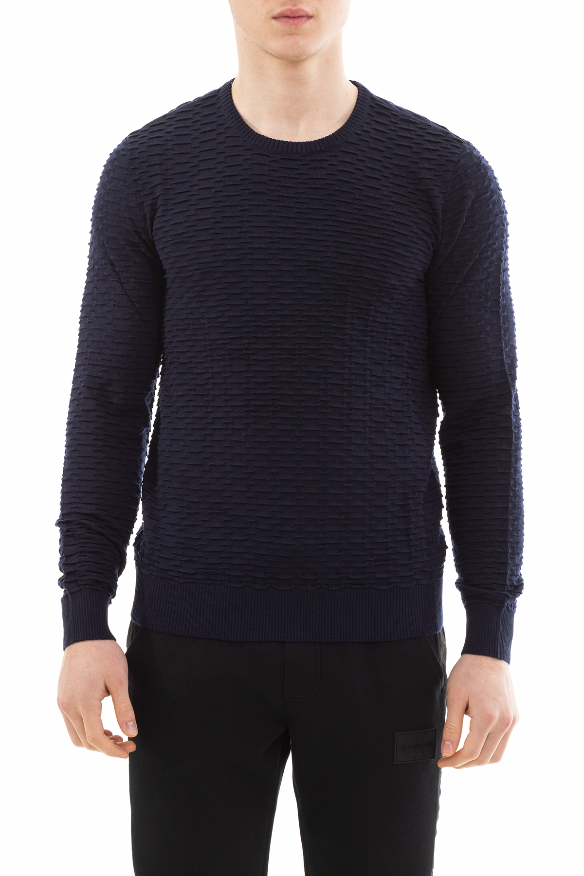 Emporio Armani Regular Fit Basic Uzun Kollu Erkek Triko