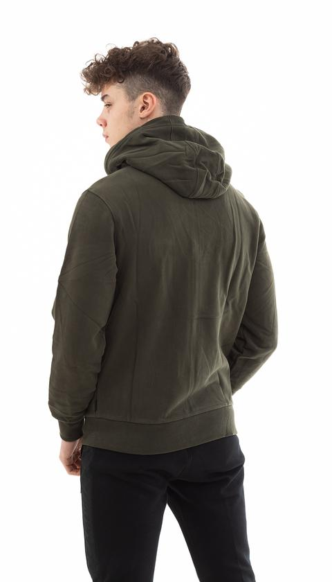 Calvin Klein Logo Embroidery Fermuarlı Erkek Hoodie Eşofman Üstü