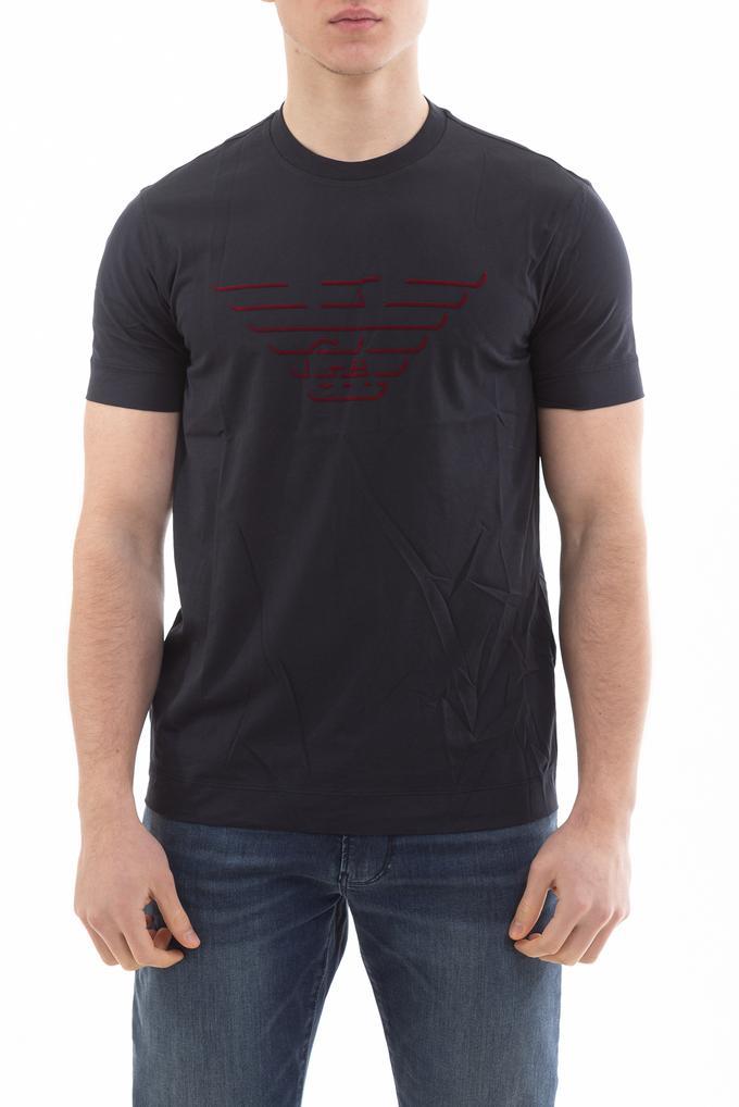 Emporio Armani GA Eagle Logo Pamuklu Kısa Kollu Erkek T-Shirt