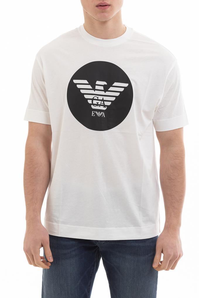 Emporio Armani Circle Logo Erkek Kısa Kollu T-Shirt