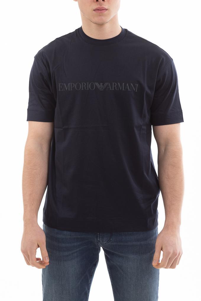 Emporio Armani Pamuklu Logo Baskılı Erkek Kısa Kollu T-Shirt