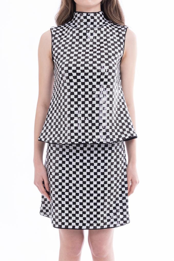 Emporio Armani Payetli Kolsuz Kadın Bluz