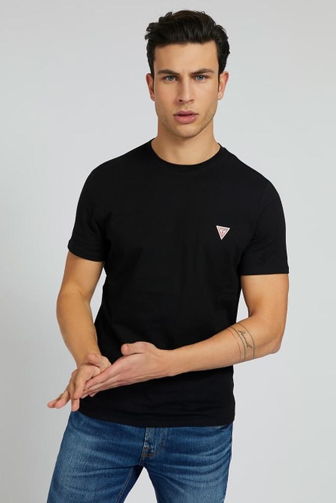 Guess Erkek %100 Pamuklu Bisiklet Yaka T-Shirt