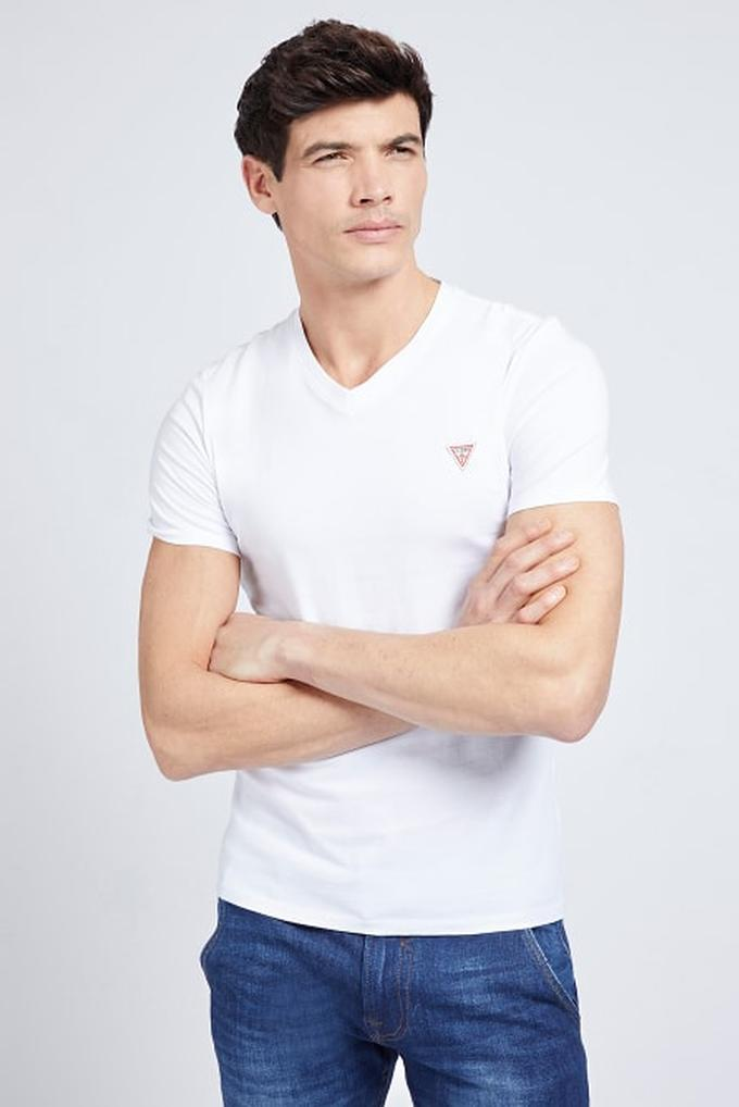 Guess %100 Pamuklu Erkek V Yaka T-Shirt