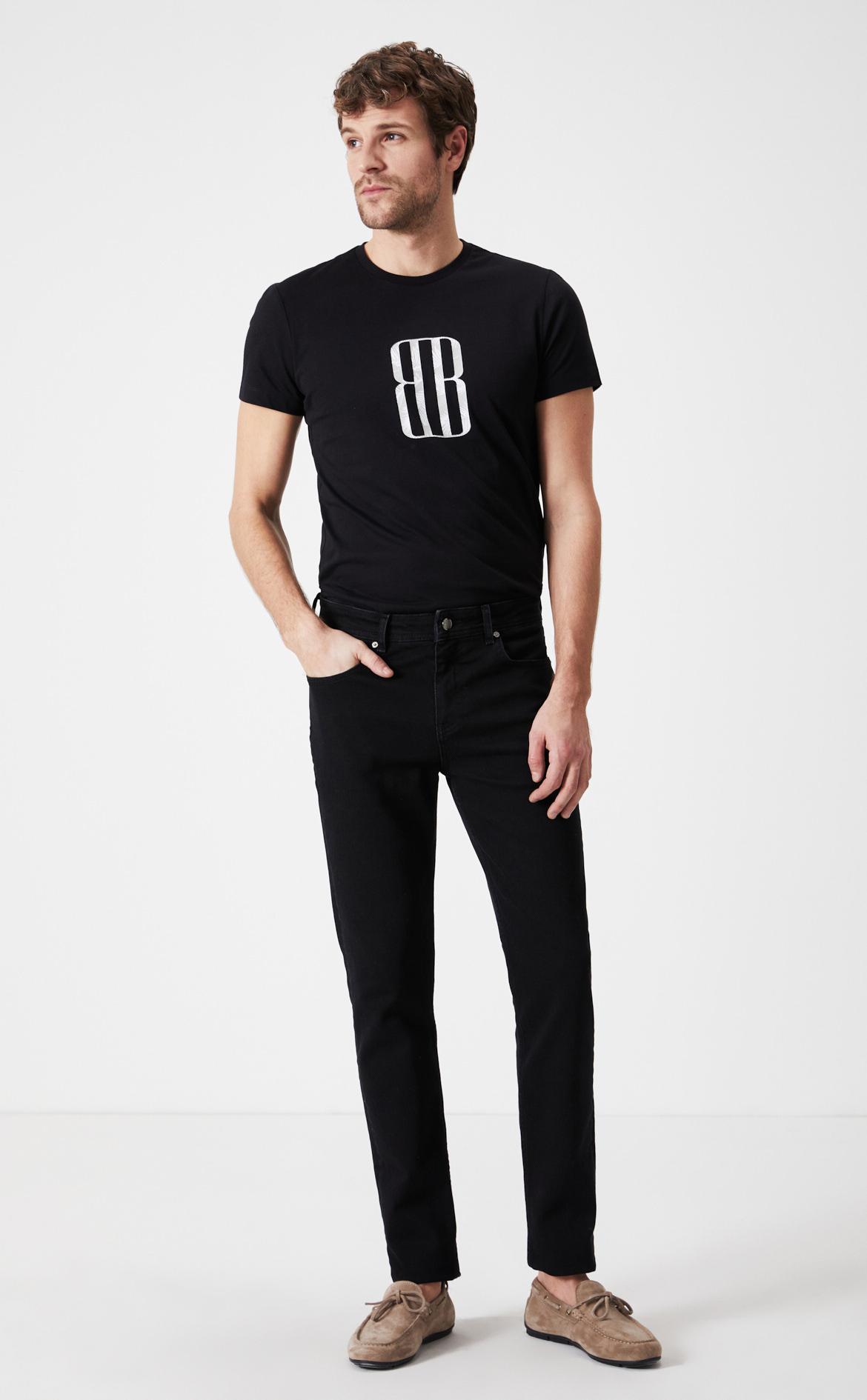 Boris Becker Erkek Siyah Slim fit Denim Pantolon