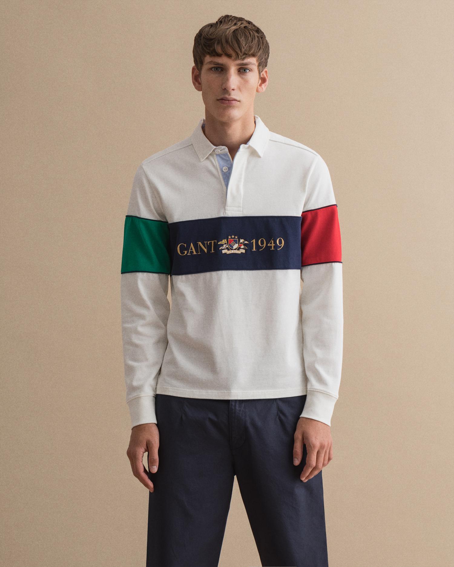 Gant Erkek Polo Yaka Uzun Kol T-Shirt