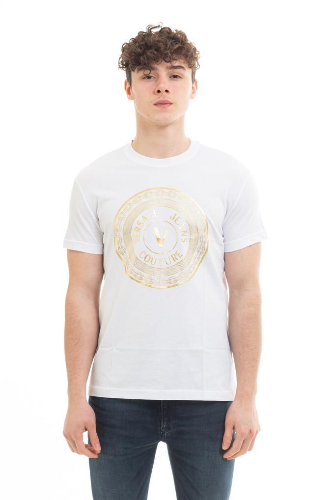Versace Jeans Couture Erkek Bisiklet Yaka T-Shirt
