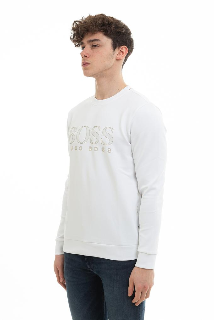 Hugo Boss Erkek Bisiklet Yaka Sweatshirt