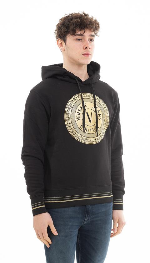 Versace Jeans Couture Erkek Kapüşonlu Sweatshirt