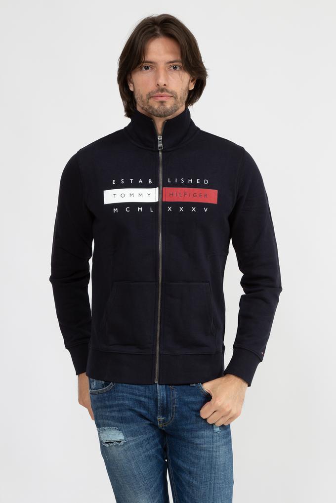 Tommy Hilfiger Erkek Fermuarlı Sweatshirt