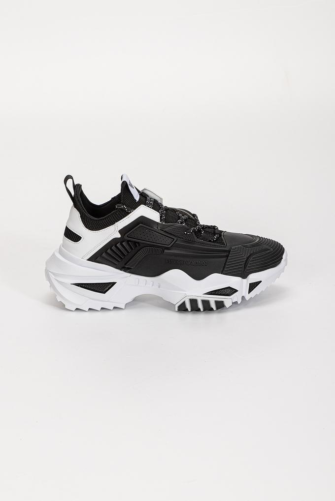 Emporio Armani Kalın Bağcıklı  Kontrast Renkli Kalın Kauçuk Tabanlı Erkek Sneaker