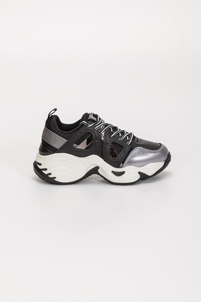 Emporio Armani Kalın Taban Doğal Deri Kadın Sneaker