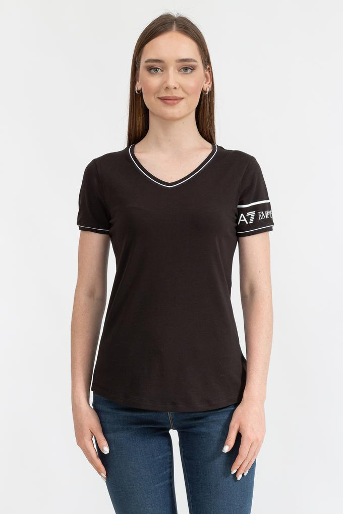 EA7 Kadın Regular Fit V Yaka T-Shirt
