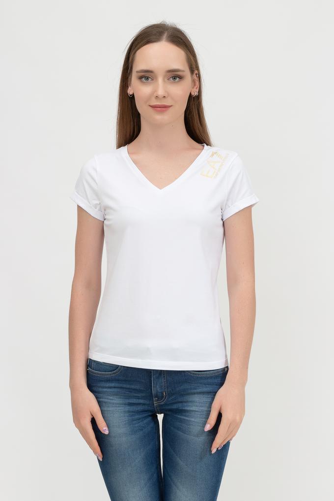 EA7 Kadın V Yaka T-Shirt