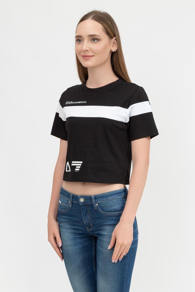 EA7 Kadın Bisiklet Yaka T-Shirt