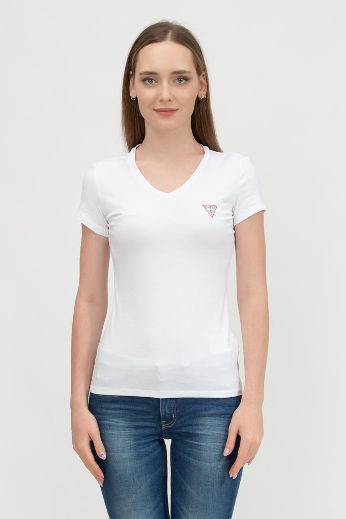 Guess Kadın V Yaka T-Shirt