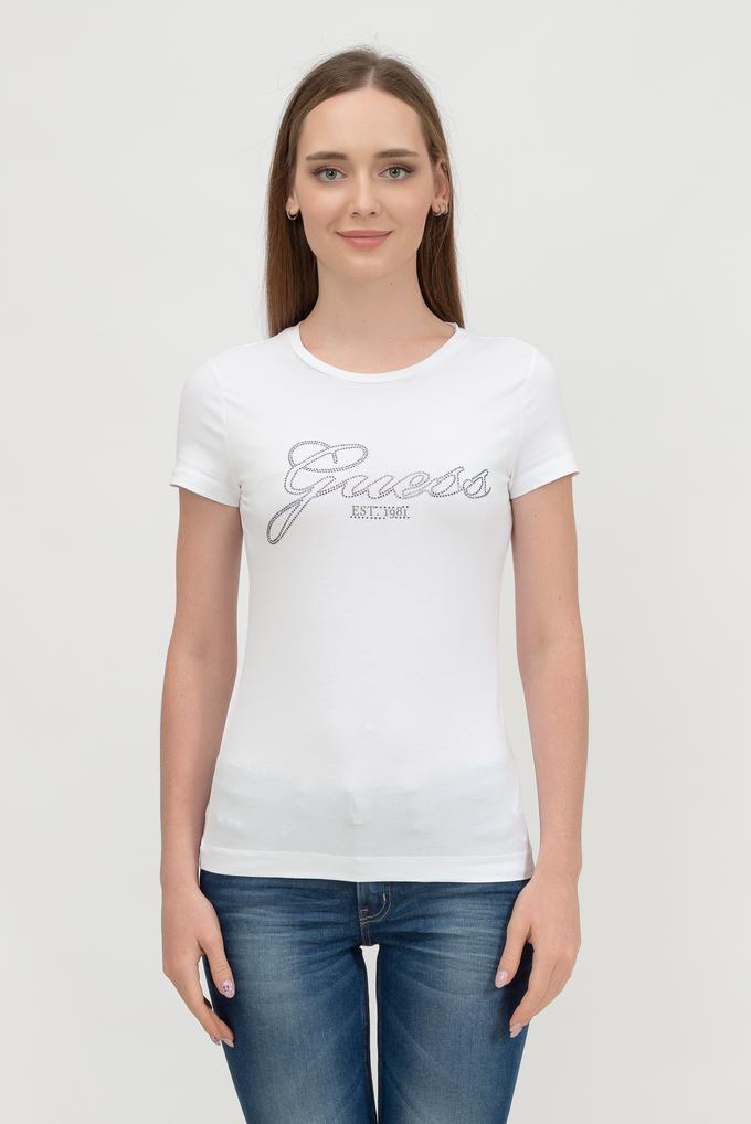 Guess Kadın Bisiklet Yaka T-Shirt