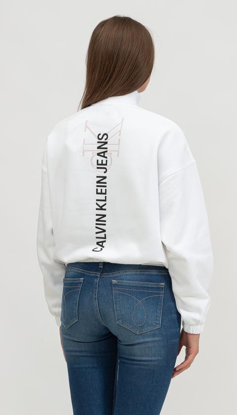 Calvin Klein Kadın Bisiklet Yaka Sweatshirt