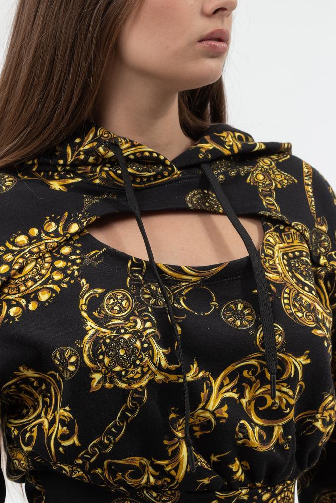 Versace Jeans Couture Kadın Kapüşonlu Sweatshirt