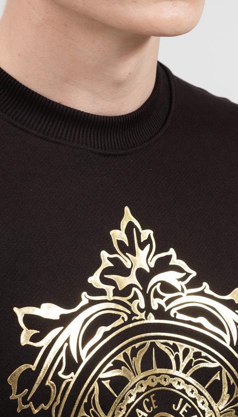 Versace Jeans Couture Erkek Bisiklet Yaka Sweatshirt